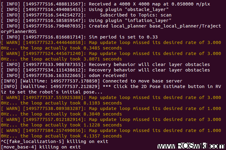 rviz中开启地图文件时出现的错误