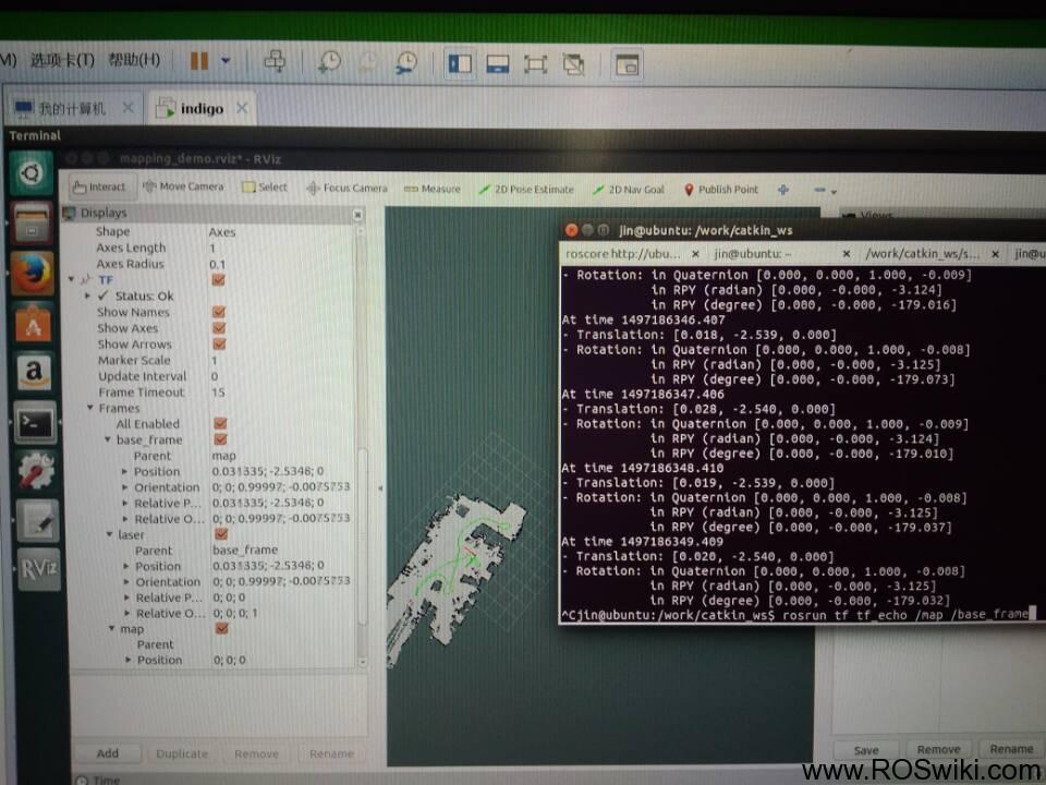 c++程序发布和订阅机器人的位置信息